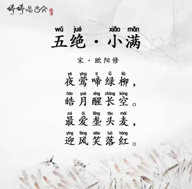 婷婷唱古文MV 最爱垄头麦,迎风笑落红
